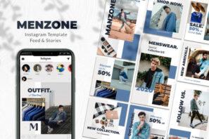Menzone Menswear Instagram Template