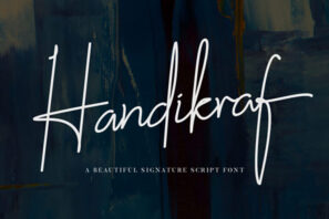 Handikraf - Signature Font